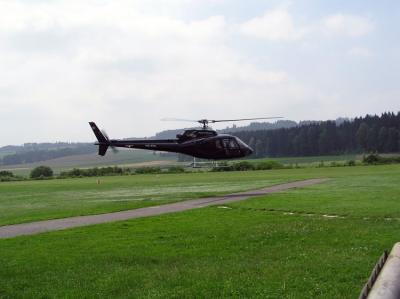 Start des AS350 HB-ZFA