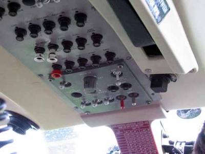 Instrumentenpanel des Jet-Rangers HB-XXO