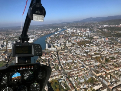 Heikopterflug über Basel