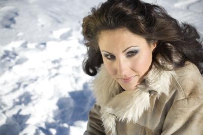 Portraitaufnahme von Claudia Öhler auf dem Hüfi-Gletscher