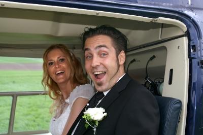 Das zufriedenes Brautpaar