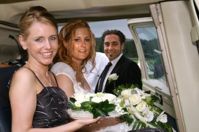Bereit für den Hochzeitflug