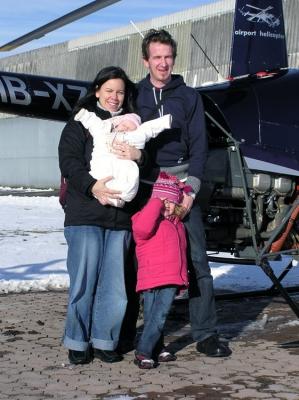 Familie Lauzon nach einem tollen Geburtstagsflug