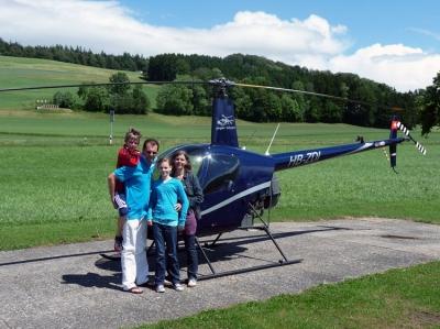 Familie Leuenberger nach Beats Flug.