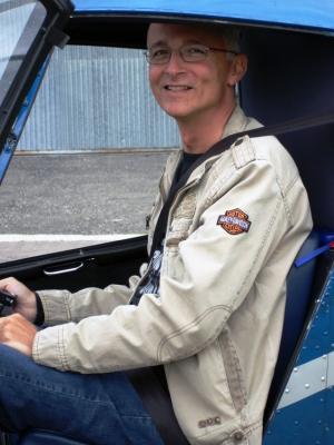 Georg Stemmer im R22 vor dem Start