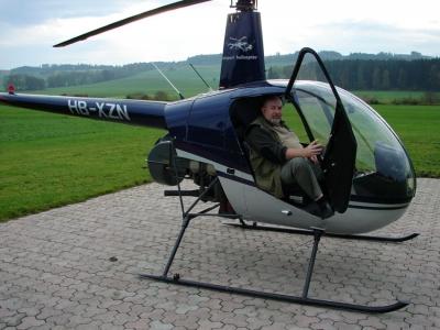 Alex Meyrat in Beromünster im R22 HB-XZN