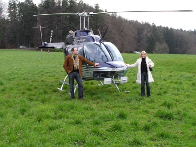 Marco Brunold mit Partnerin Auf dem Pfannenstiel