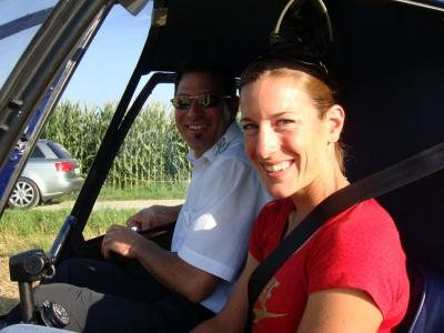 Nicola Spirig nach der Landung in Uster