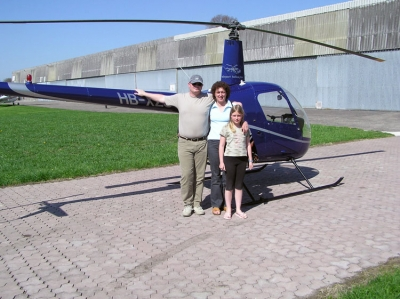 Famile Wenk nach dem Flug von Herrn Wenk