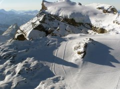 Anflug auf den Glacier de Tsanfleuron