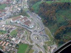 Autobahn bei Horw (Luzern)