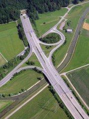 Die Autobahnausfahrt bei Tuggen