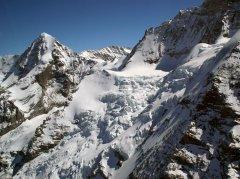 Das Jungfraujoch aus der Ferne