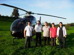 Familie Eilinger in Edlischwil vor dem EC120